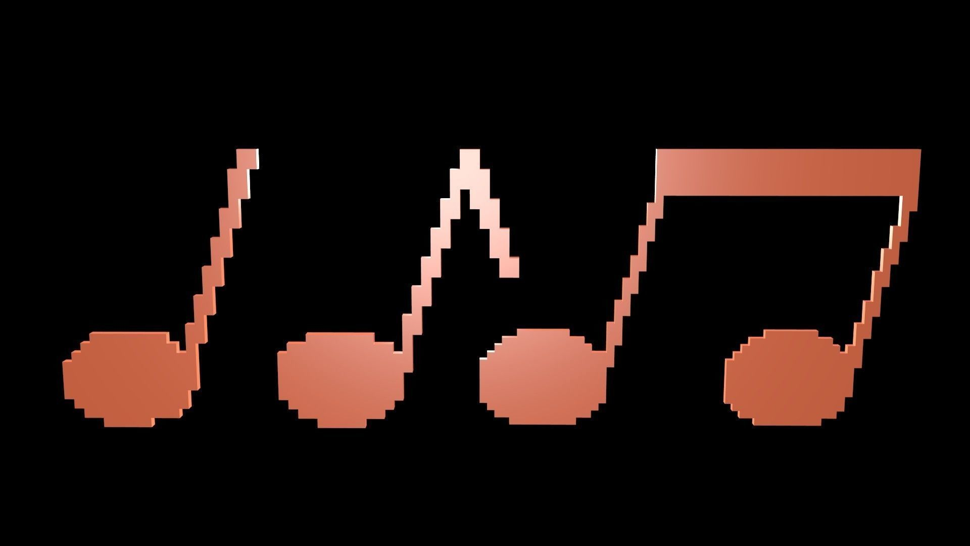 Musical notes voxel