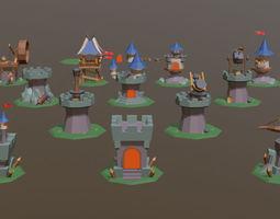 Defense Set 1 3D asset