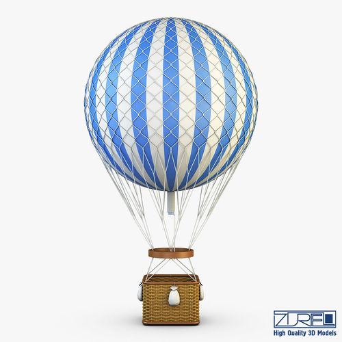 hot air balloon 2 3d model max obj mtl fbx 1