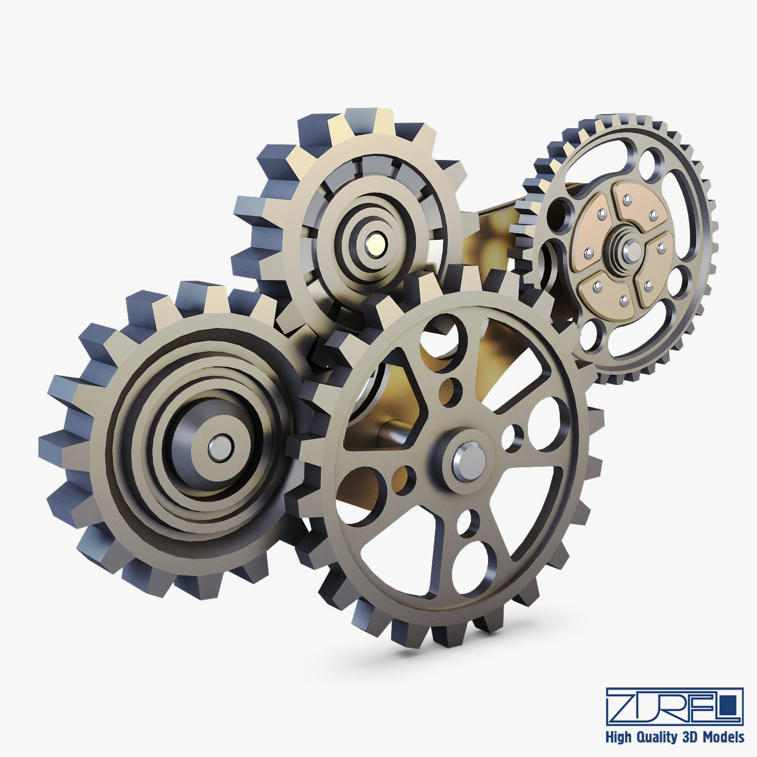Gear Mechanism Low Poly v 6