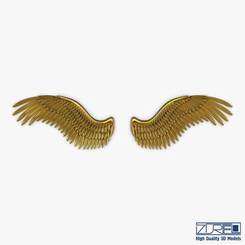 Eagle Wings Gold V 2 3D Model MAX OBJ MTL FBX