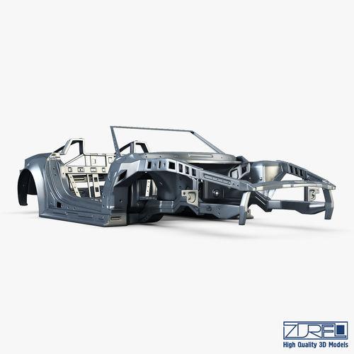 Car frame v 1 3D model MAX OBJ MTL FBX