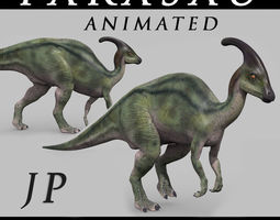 animated Parasaurolophus 8192 HD - 3d animated model