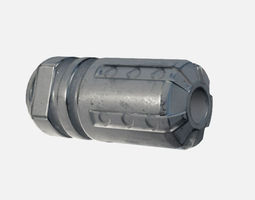 tactical fire compensator 3d model PBR low-poly