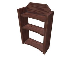 Wooden Wall Shelf Low Poly PBR Game Ready 3D model