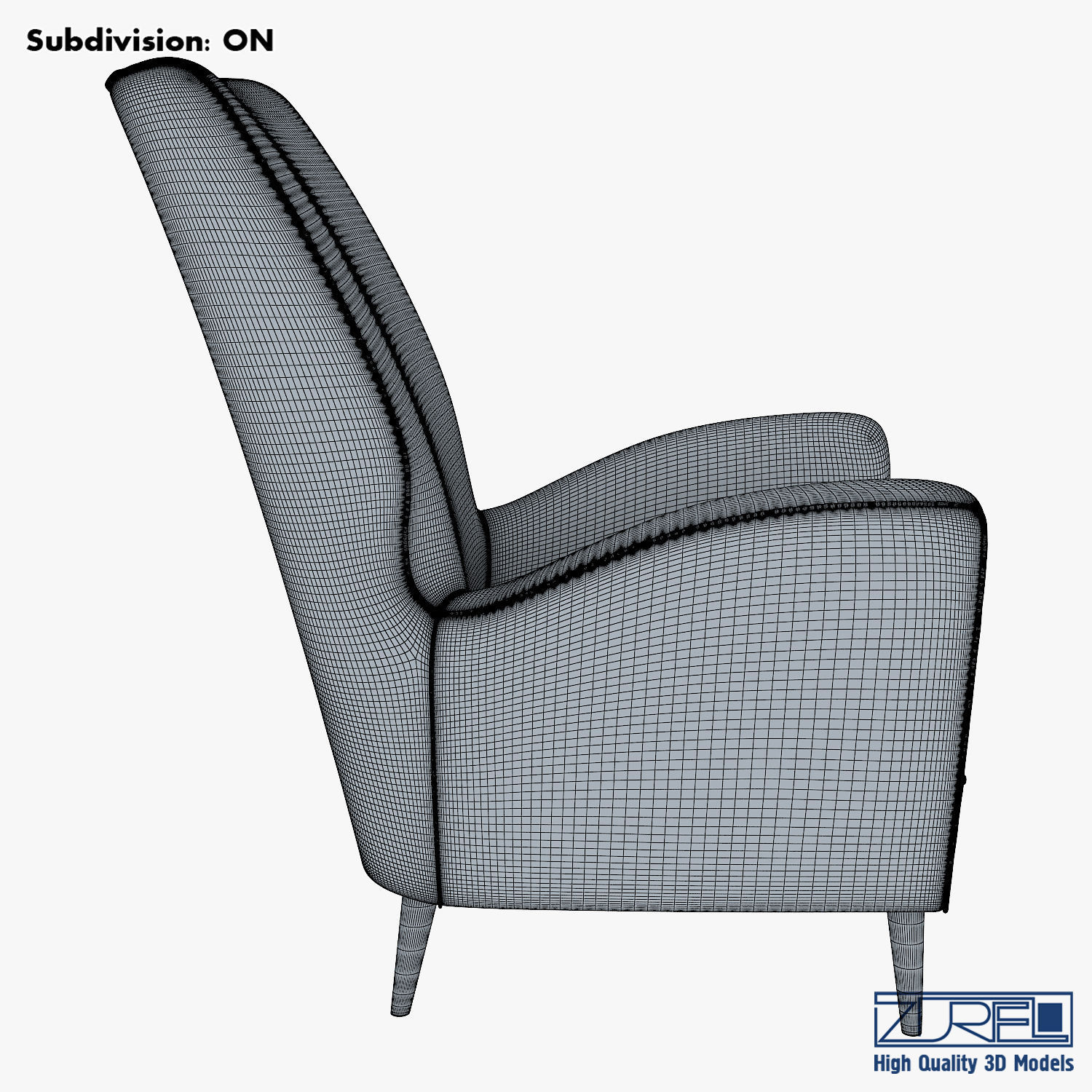 Paire De Fauteuils 1950 Paolo Buffa Armchair 3D Model