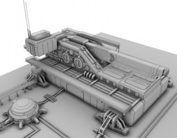 Heavy sci-fi cannon 3D
