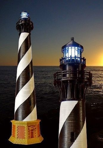 Cape Hatteras Lighthouse 3d Model 3d Printable Stl