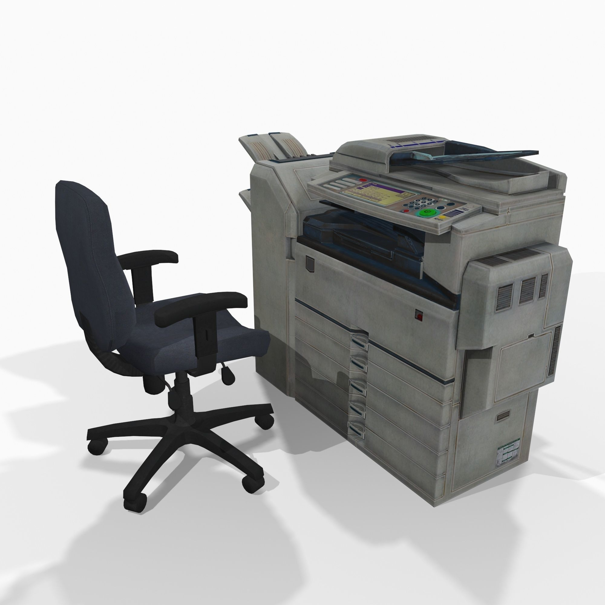 Photocopier and office chair