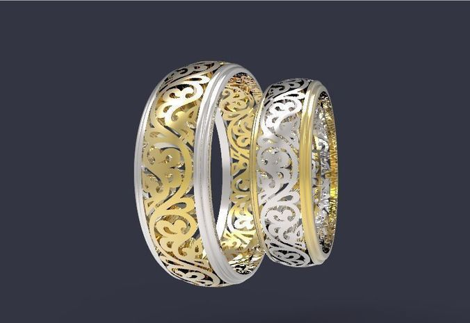 wedding bands 5 3d model stl 3dm 1