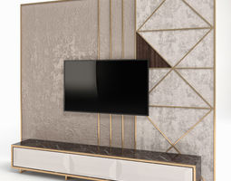 3D Wall Panel with Tv