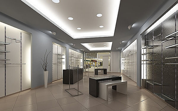 Store interior scene Render Ready   3D model
