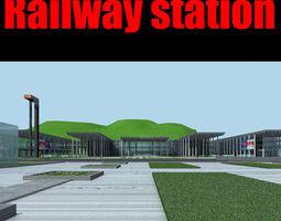 railway station 028 3d