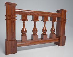 3D model Balustrade Vase Wood Kit decoration