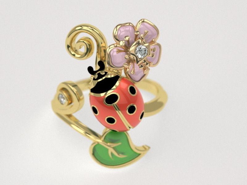 Ladybug ring - original
