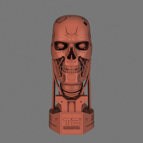 terminator t-800 skull bust for 3d printing 3d model max obj mtl 3ds fbx stl 1