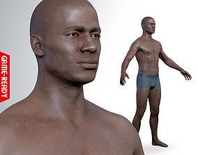 Average Black Male Body 3D model realtime