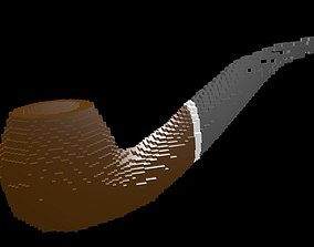 Smoking pipe voxel 3D