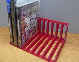 3d print model game disk and dvd storage rack