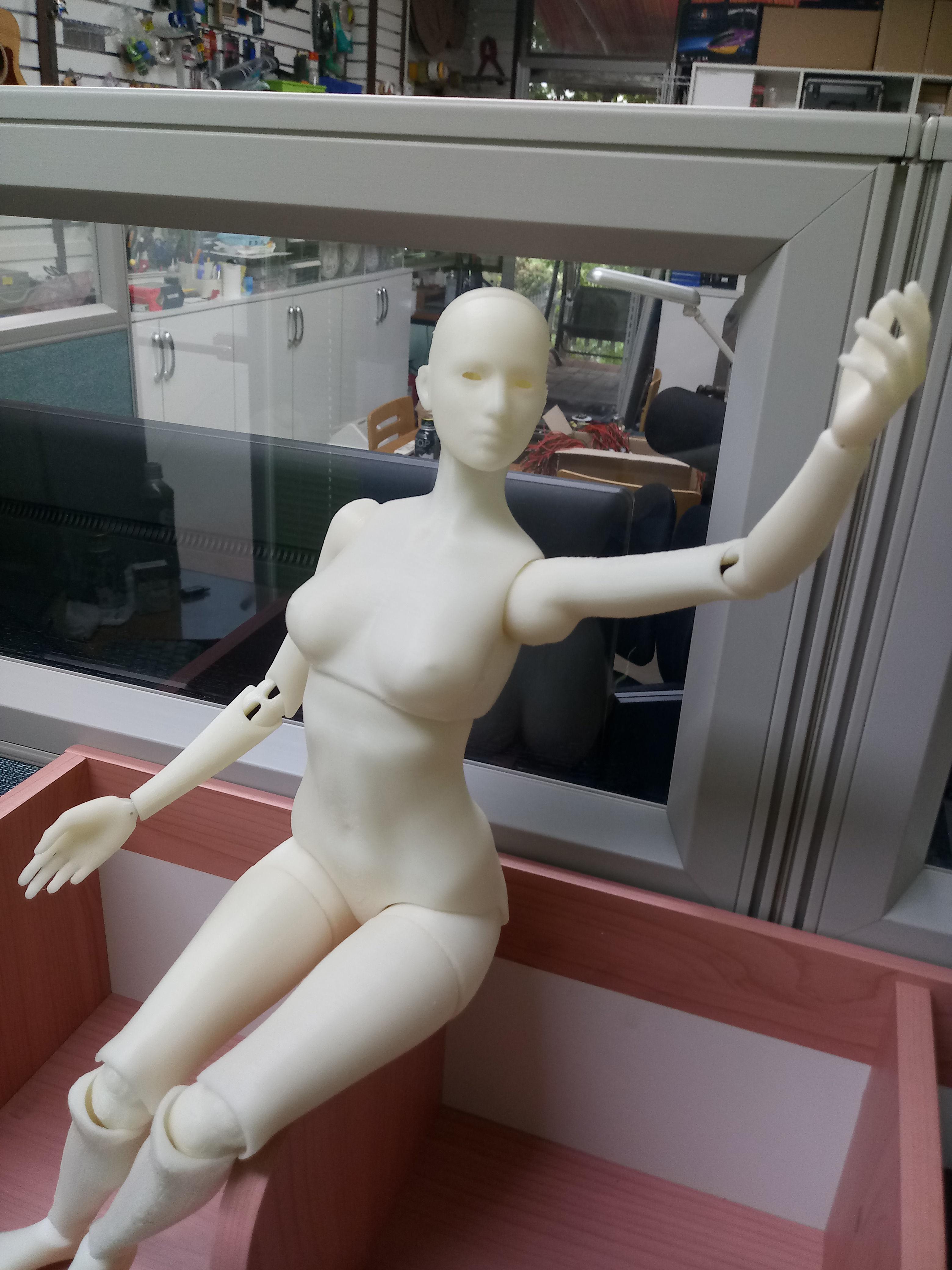 BJD girl -ball Jointed doll 3D print model