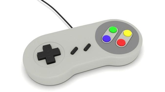 gamepad super nintendo 3d model low-poly max obj mtl 3ds fbx stl 1
