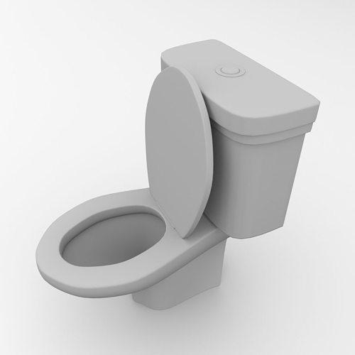 Toilet 3d model 3ds fbx blend dae - Toilet model ...
