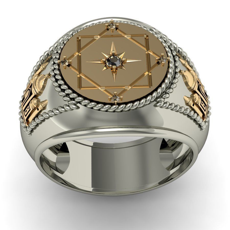 signet ring for men with a mosque