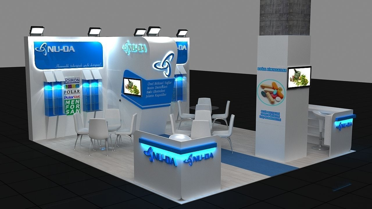 Free 3d Exhibition Stand Design : D exhibition stand model max cgtrader