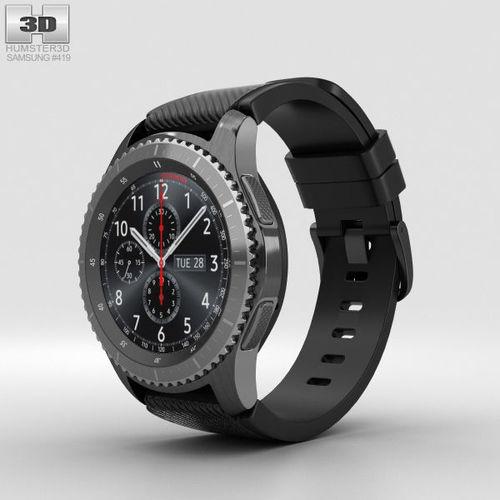 samsung gear s3 frontier 3d model max obj mtl 3ds fbx c4d lwo lw lws 1