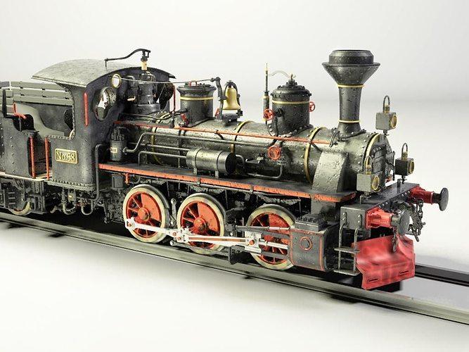 european steam locomotive train engine 3d model cgtrader