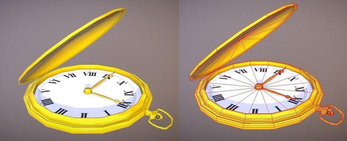 pocket watch 3d model fbx 1