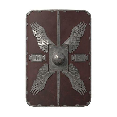 roman shield - scutum 3d model obj mtl fbx blend dae abc 1