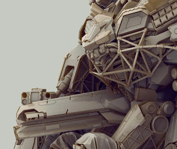 titan 3d model obj mtl 1