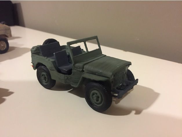 jeep 1941 - scale model - assembly kit 3d model stl 1