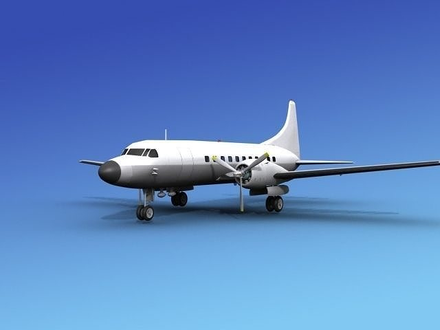 convair cv-340 unmarked 1 3d model max obj mtl 3ds lwo lw lws dxf stl 1