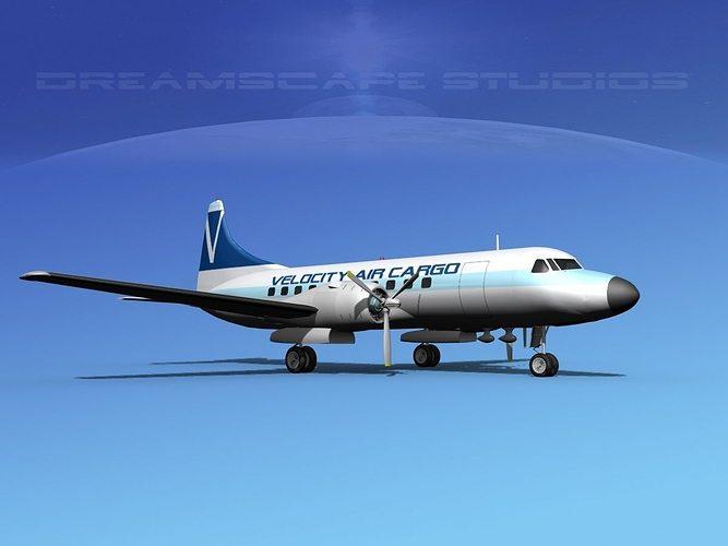 convair cv-340  velocity air cargo 3d model max obj mtl 3ds lwo lw lws dxf stl 1