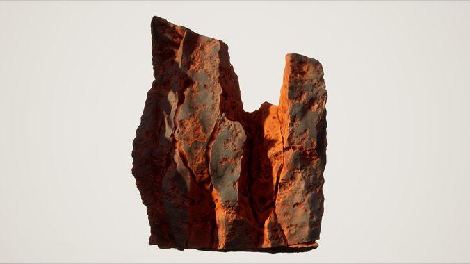high quality procedural rock 5 3d model obj mtl fbx dae tga 1