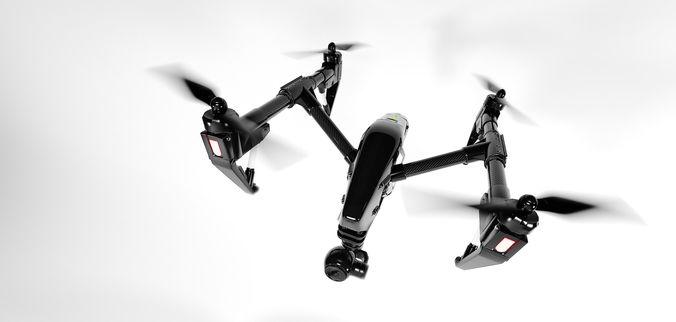 dji inspire 1 quadcopter detailed highpoly 3d model max obj mtl 1