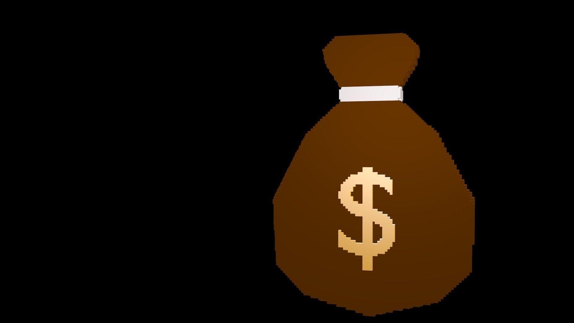 Symbols of money voxel 2