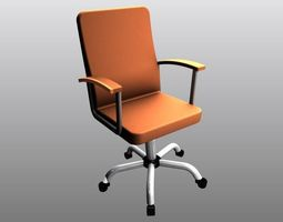 High Office Chair With 3D printable model