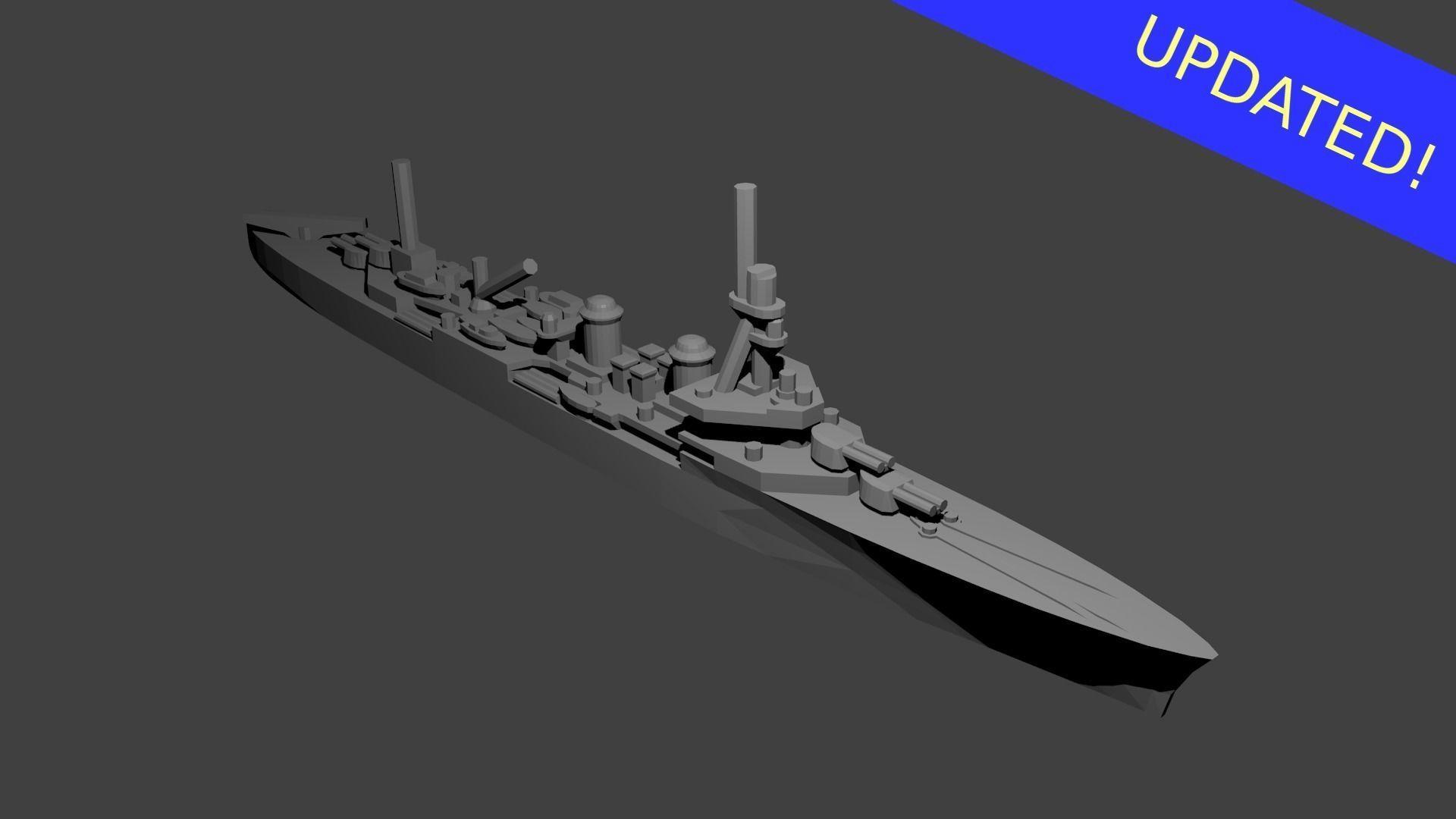 French Duguay Trouin Class Cruiser Warship