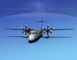 Dehaviland DHC-8 400 Bare Metal 3D