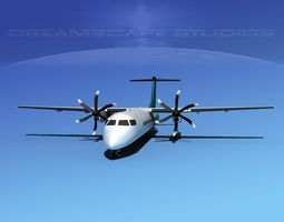 Dehaviland DHC-8 400 Corporate 4 3D model
