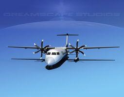 3D model Dehaviland DHC-8 400 Devonair