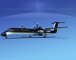 Dehaviland DHC-8 400 Freedom Express 3D model