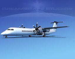 Dehaviland DHC-8 400 Unmarked 1 3D model