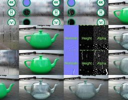 Raindrops Texture Collection 3D model
