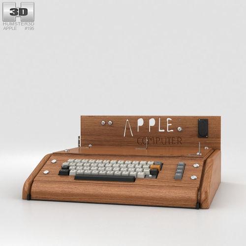 apple i computer 3d model max obj mtl 3ds fbx c4d lwo lw lws 1