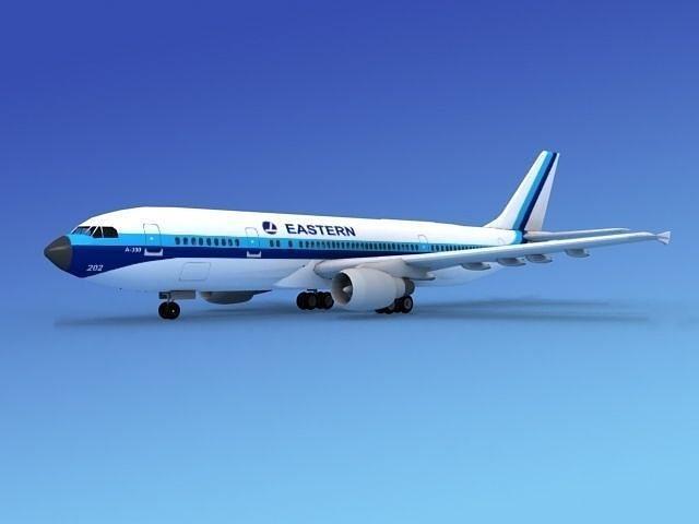 airbus a300 eastern 1 3d model max obj 3ds lwo lw lws dxf stl 1