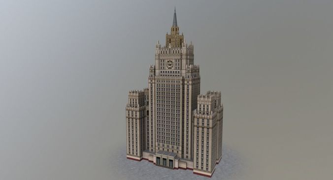 moscow foreign office 3d model low-poly max obj mtl 3ds fbx 1